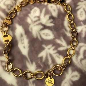 JUICY COUTURE GOLD LINK HEART NECKLACE